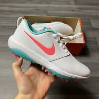 NIKE ROSHE G TOUR WHITE AURORA GREEN GOLF TRAINERS AR5580-103 UK7 US8 EUR41