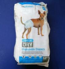 SoPhresh Dog Disposable Diaper, Female  Sz XS Dogs Up to 8 lbs   Pkg of 12