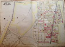 ORIG 1915 GLENDALE MASPETH LUTHERAN MT CARMEL CEMETERY PS 81 QUEENS NY ATLAS MAP