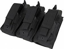 Condor MA55 Triple Kangaroo Airsoft M4 And Pistol Mag Pouch (Black)
