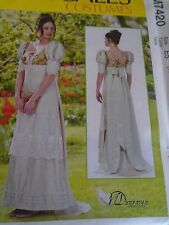 """PATRON  """"McCALL'S COSTUMES SUPERBE ROBE EMPIRE .... 42 A 50 N° 7420"""