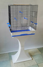 Bird Cage with The Stand Sliding Waste Box Feeder Seats Parrot Canaries Budgies
