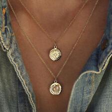 Crystal Moon Star Pendant Multilayer Women Choker Necklace Bohemian Jewelry