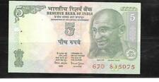 INDIA #88Ac 2002 5 RUPEE UNC BANKNOTE BILL NOTE CURRENCY PAPER MONEY
