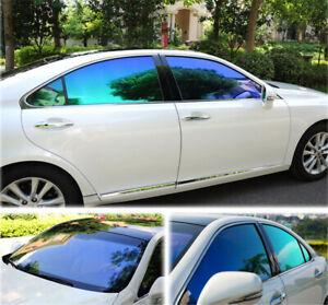 50x600cm Chameleon Blue Car Window Tint VLT 55% Nano Ceramic Film for Car Glass
