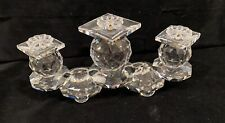 Swarovski Crystal Triple Tier Pin Spike Style Candle Holder Missing pins