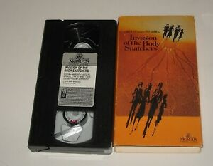 VHS in SLEEVE - INVASION of the BODY SNATCHERS DONALD SUTHERLAND SCI FI re make