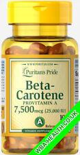 Puritan's Pride Beta-Carotene 25,000 IU 100 SOFTGELS (220)
