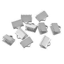 20PCs Stainless Steel End Caps Crimp For Bracelet Bright Silver Tone