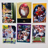 Joe Montana 6-card Lot - w/ 2 1995 Upper Deck Trilogy MT Inserts, 1991 FH Insert