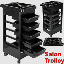 Salon Hairdresser Barber Beauty Storage Trolley Hair 5 Tier Drawers Cart Spa UK