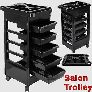 Salon Hairdresser Barber Beauty Storage Trolley Hair 5 Tier Drawers Cart Spa UK