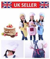 Apron and Hat Set Kids Childrens Chefs Cooking Bake Lovely Luxury Pi9gl Balss