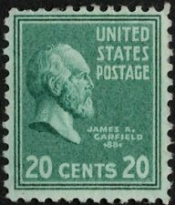 US - 1938 - 20 Cents Bright Blue Green Garfield Presidential Issue #825 Mint FVF