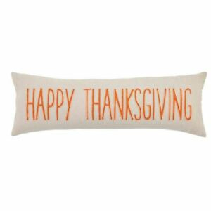 Mudpie - Happy Thanksgiving Long Pillow - 41600414