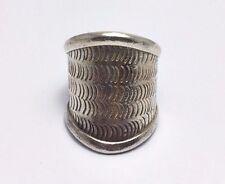 Silver Ring Thai Karen Hill Tribe Band Adjustable Free Size 925 Sterling Silver