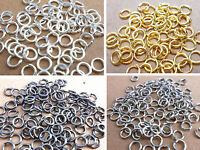 Wholesale 500PCS Lots 4 Colors Jewelry Making 3-9MM Jump Rings Open Connectors