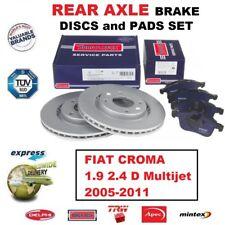 Para Fiat Croma 1.9 2.4 D Multijet 2005-2011 Eje Trasero Discos de Freno (292mm)