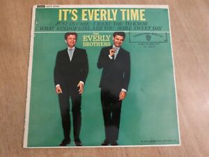 THE EVERLY BROTHERS - IT'S EVERLY TIME - UK EP -  VG++ / VG++