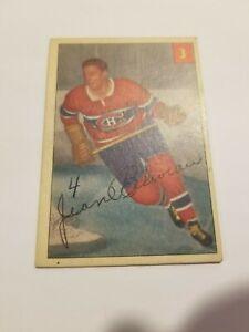 1954-55 Parkhurst SET BREAK Card #3 Jean Beliveau