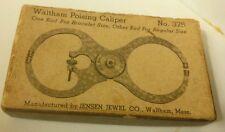 Antique Waltham Poising Caliper Watchmaker's Tool Original Box Jensen Jewel Co