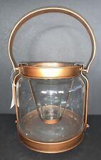 "Yankee Candle  BRONZE LANTERN Tea Light Holder 7"" x 6.5"" NIB"