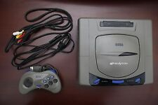 Sega Saturn Gray Console very good condition Japan import SS system US Seller