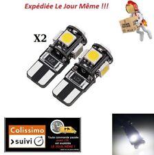 2X T10 W5W 5 LED 5050 SMD BLANC ODB TUNING 6000K XENON AMPOULE FEU DE POSITION