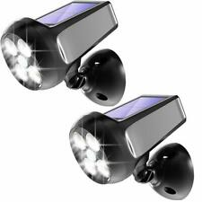 6Stk.5LEDs Solarstrahler Außenlampe Wandleuchte IP65 Hausbeleuchtung Kaltweiß