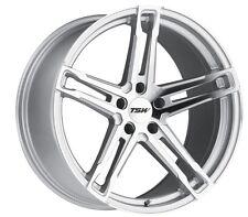 17x8 TSW Mechanica 5x112 Rims +32 Silver Wheels (Set of 4)
