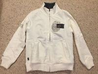 NWT NEW $88 Marc Ecko Heavy Fleece Lined Sweatshirt/Jacket Mens Small S Full-Zip
