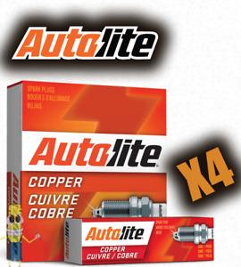 Autolite 404 Copper Resistor Spark Plug - Set of 4