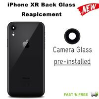 Black Back Rear Glass Housing Battery Cover Replacement For Apple iPhone XR
