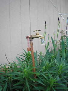 Rain Gauge copper & brass lawn & garden gift Drop...Holiday GIFT MOTHERS  DAY!