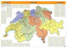 Poster Postal Code Map Switzerland Horizontal Format 55 1/10x39 2/5in 110148