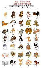 30 Personalized Return Address labels Cute Dogs Buy 3 get 1 free {d5}