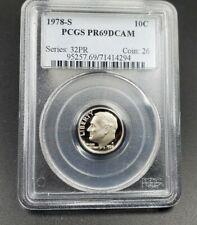 2012-S Silver Roosevelt Dime PR69DCAM PCGS Proof 69 Deep Cameo