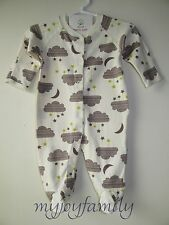 HANNA ANDERSSON Baby Organic Footed Sleeper Feet Pebble Brown 60 6-9 months NWT