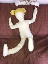 1977 Boogie Bear'S Design & Display Factory Girl Poseable Cloth Form Blonde