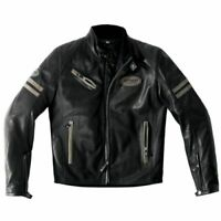 Spidi Ace Leather Jacket Size 52 Euro Black / Brown - **SUPER SALE**