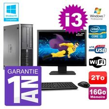 """PC HP 8200 SFF Intel I3-2120 16Go Disque 2To Graveur Wifi W7 Ecran 22"""""""