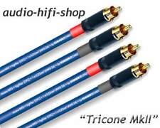 1,00 M STEREO RCA Sommer Cable Tricone MKII + Cinchstecker placcati oro