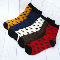 Cartoon Crow Pattern Male Cotton Useful Socks Winter Autumn Men's Warm Sock