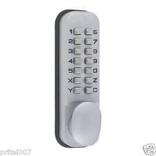 Nouveau bouton poussoir Serrure De Porte Cadenas Externe Interne Portes Clavier code d'accès Clé