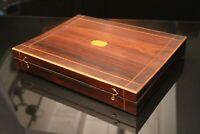 Coffret à jeu palissandre XIXe jeu Boston de Fontainebleau