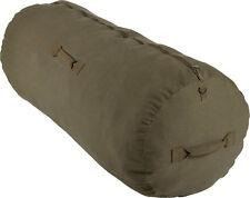 Olive Drab Cotton Canvas Side Zipper Sports Gym Travel Duffle Bag Duffel
