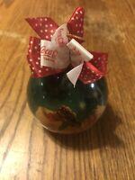 Coca-Cola Handmade Decoupage Christmas Ornament Santa Drinking Coke 1994 Enesco
