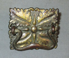 Antique Vintage New Royal Treadle Sewing Machine Ornate Brass Drawer Pull + Nuts