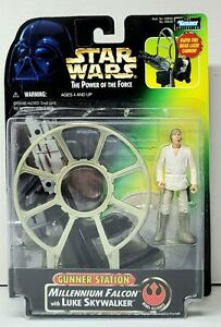 STAR WARS Gunner Station Millennium Falcon Luke Skywalker Power of the Force NEW