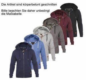 Roberto Barini Herren Kapuzenpullover Sweatjacke Sweatshirt Hoodie Pullover Zip